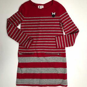 Gap Kids L 10 Red Striped Minnie Mouse Dress